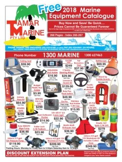 Get your free 2018 Tamar Marine Catalogue