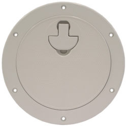 Deck plate with latch